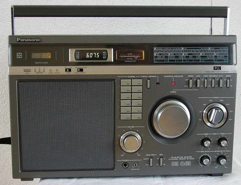 Panasonic Shortwave Receiver DR-Q63 / RF-6300L on panasonic portable multiband receiver, panasonic rf 5000, panasonic rf-4800,
