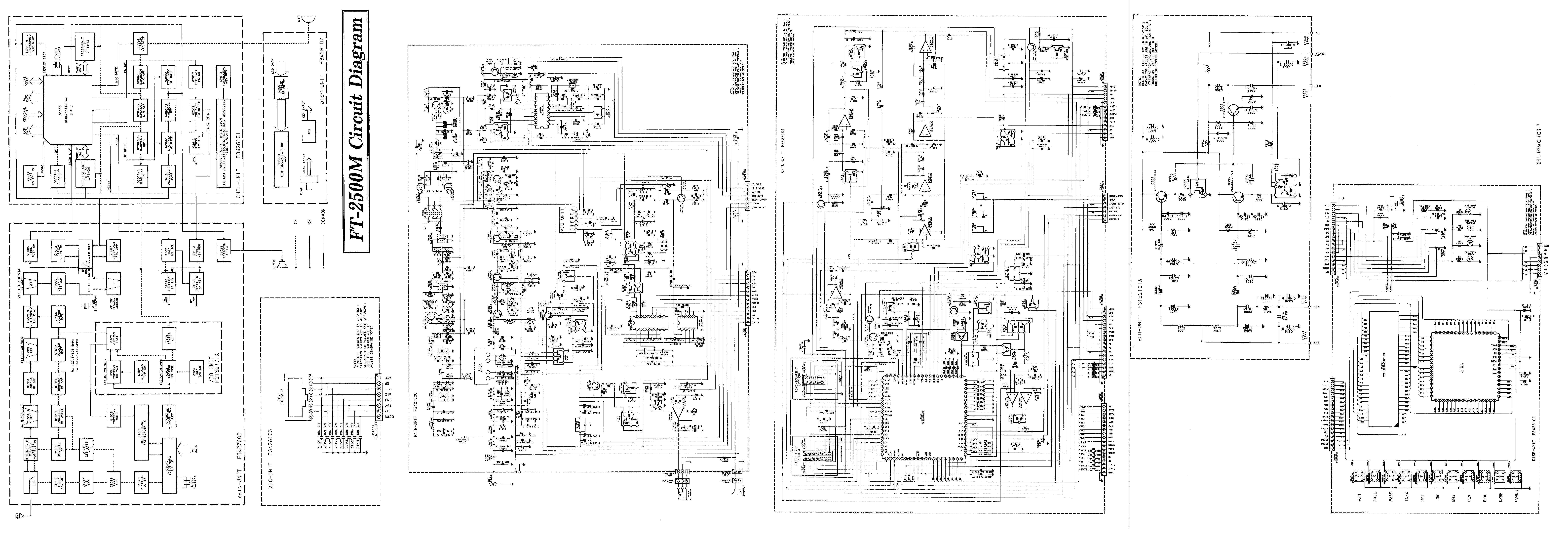 Yaesu, FT-2500M, Schematics, JPG, 5.053 MB, download